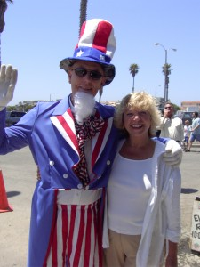 Uncle Sam celebrates Independence Day with Patricia in Channel Islands Harbor, Oxnard